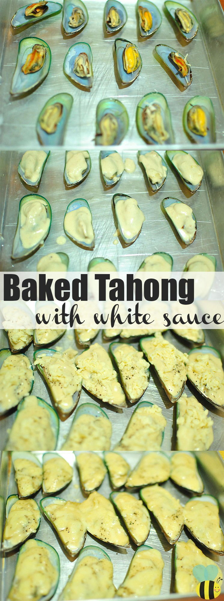 baked tahong with white sauce recipe