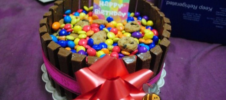 Do It Yourself KitKat Birthday Cake