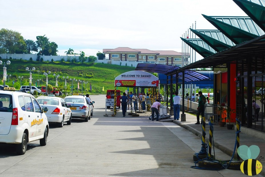 taxi lane in Davao airport
