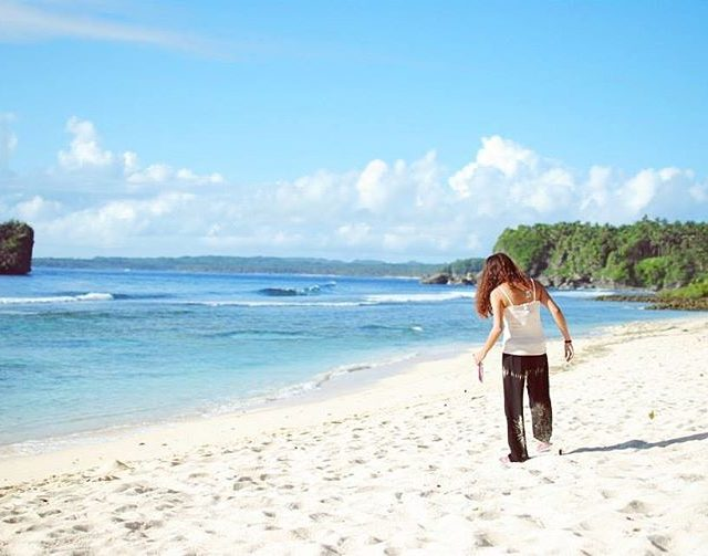 Footprints in the sand  itsmorefuninthephilippines siargao philippines theph nikonphhellip