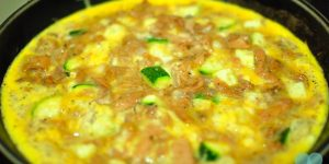 Tuna Omelet with Zucchini