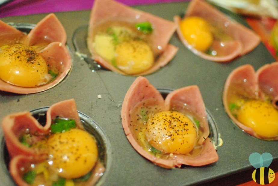 ham and egg breakfast cups