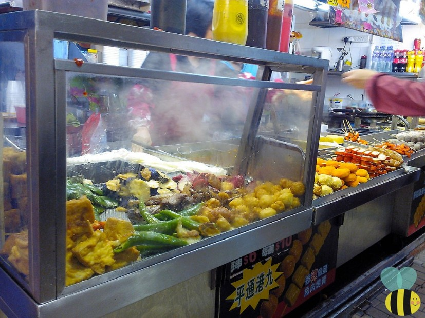 Street food corner in Mong Kok